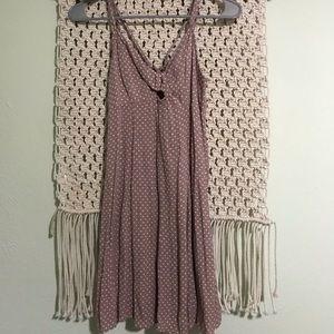 Purple Polk a dot dress